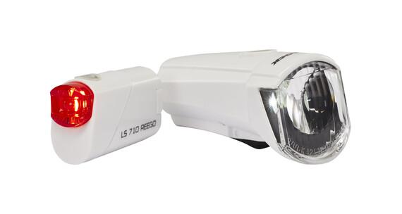 Trelock LS350 I-go Sport + LS710 Reego Zestaw oświetlenia rowerowego biały